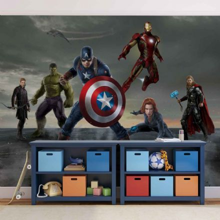 Avengers Team wall mural wallpapers